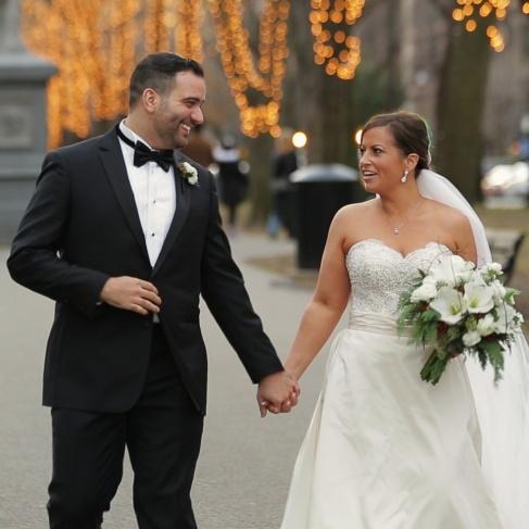 wedding couple commonwealth Avenue Boston jpg